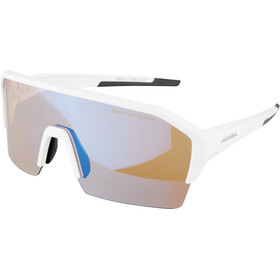 Alpina Ram HR HVLM+ Glasses, white matt/blue mirror